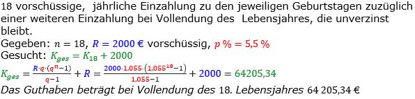 Rentenrechnung Lösungen zum Aufgabensatz 3 Blatt 2/1 Fortgeschritten/© by www.fit-in-mathe-online.de