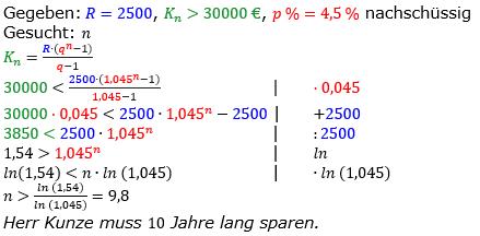 Rentenrechnung Lösungen zum Aufgabensatz 6 Blatt 2/1 Fortgeschritten/© by www.fit-in-mathe-online.de