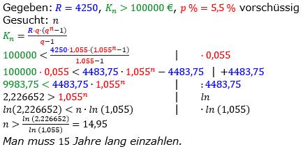 Rentenrechnung Lösungen zum Aufgabensatz 7 Blatt 2/1 Fortgeschritten/© by www.fit-in-mathe-online.de