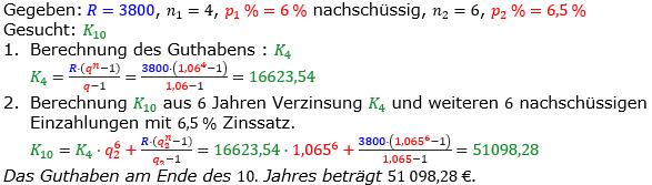 Rentenrechnung Lösungen zum Aufgabensatz 8 Blatt 2/1 Fortgeschritten/© by www.fit-in-mathe-online.de