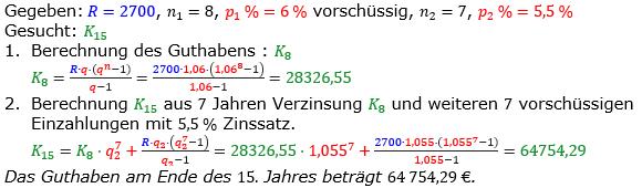 Rentenrechnung Lösungen zum Aufgabensatz 9 Blatt 2/1 Fortgeschritten/© by www.fit-in-mathe-online.de