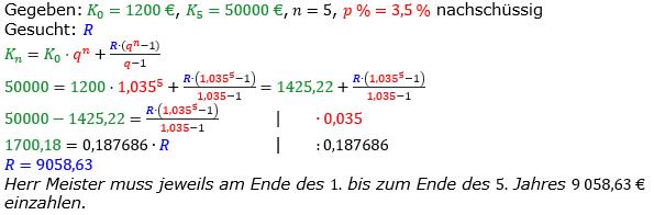 Rentenrechnung Lösungen zum Aufgabensatz 10 Blatt 2/1 Fortgeschritten/© by www.fit-in-mathe-online.de