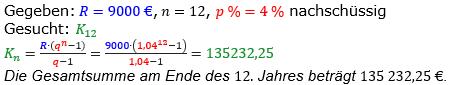 Rentenrechnung Lösungen zum Aufgabensatz 11 Blatt 2/1 Fortgeschritten/© by www.fit-in-mathe-online.de