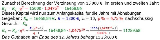 Rentenrechnung Lösungen zum Aufgabensatz 12 Blatt 2/1 Fortgeschritten/© by www.fit-in-mathe-online.de