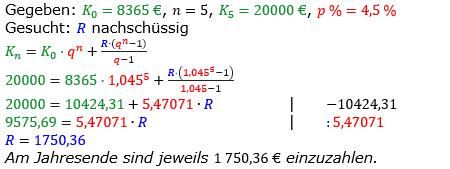 Rentenrechnung Lösungen zum Aufgabensatz 2 Blatt 2/2 Fortgeschritten/© by www.fit-in-mathe-online.de