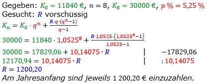 Rentenrechnung Lösungen zum Aufgabensatz 3 Blatt 2/2 Fortgeschritten/© by www.fit-in-mathe-online.de