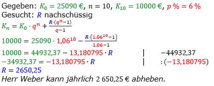 Rentenrechnung Lösungen zum Aufgabensatz 4 Blatt 2/2 Fortgeschritten/© by www.fit-in-mathe-online.de