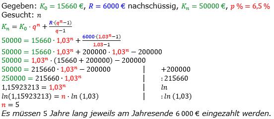 Rentenrechnung Lösungen zum Aufgabensatz 6 Blatt 2/2 Fortgeschritten/© by www.fit-in-mathe-online.de