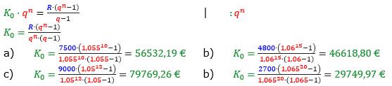 Rentenrechnung Lösungen zum Aufgabensatz 7 Blatt 2/2 Fortgeschritten/© by www.fit-in-mathe-online.de