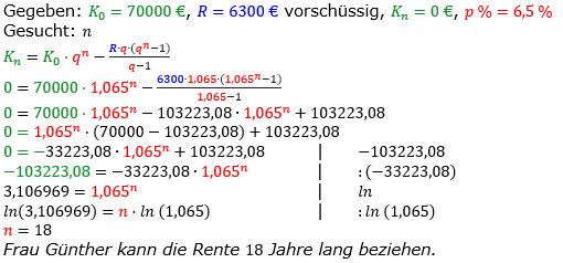 Rentenrechnung Lösungen zum Aufgabensatz 14 Blatt 2/2 Fortgeschritten/© by www.fit-in-mathe-online.de