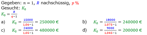Rentenrechnung Lösungen zum Aufgabensatz 1 Blatt 2/3 Fortgeschritten/© by www.fit-in-mathe-online.de