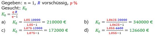 Rentenrechnung Lösungen zum Aufgabensatz 2 Blatt 2/3 Fortgeschritten/© by www.fit-in-mathe-online.de