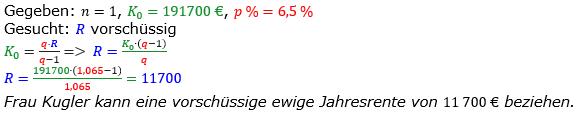 Rentenrechnung Lösungen zum Aufgabensatz 6 Blatt 2/3 Fortgeschritten/© by www.fit-in-mathe-online.de