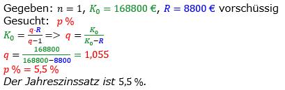 Rentenrechnung Lösungen zum Aufgabensatz 7 Blatt 2/3 Fortgeschritten/© by www.fit-in-mathe-online.de