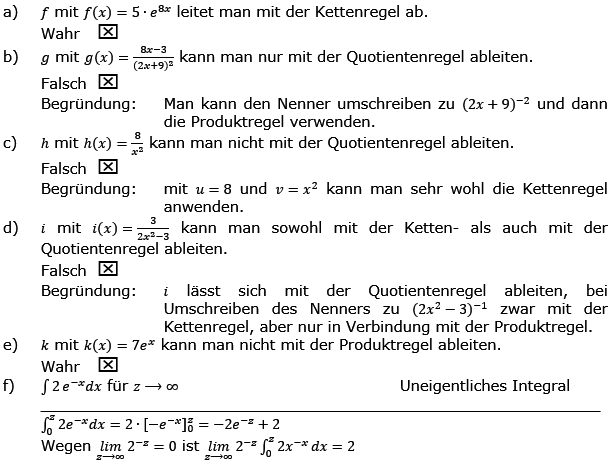Aufgabensatz 1 Wochenblatt 03 Kursstufe 2 Prüfungsvorbereitung Abitur Lösung Bild g8k12/W03A01L01/© by www.fit-in-mathe-online.de