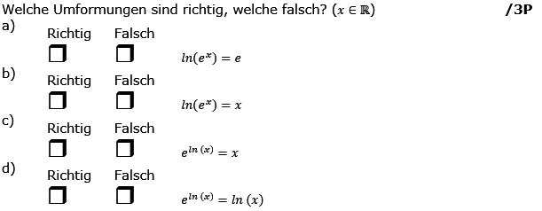Welche Umformungen sind richtig, welche falsch? (Grafik g8k12/W07A0301 im Aufgabensatz 3 Wochenblatt 07 Kursstufe 2 Prüfungsvorbereitung Abitur) /© by www.fit-in-mathe-online.de)