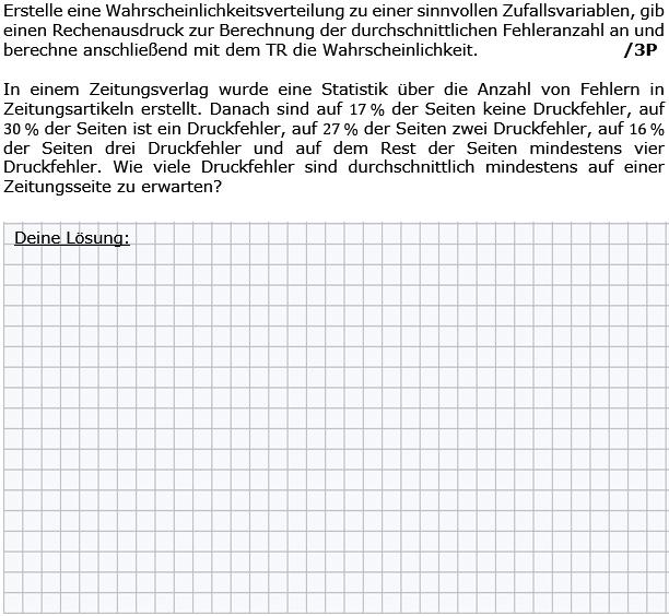 Erstelle eine Wahrscheinlichkeitsverteilung zu einer sinnollen Zufallsvariablen. (Grafik g8k12/W07A0501 im Aufgabensatz 5 Wochenblatt 07 Kursstufe 2 Prüfungsvorbereitung Abitur) /© by www.fit-in-mathe-online.de)