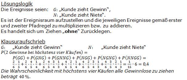 Urnenmodelle in der Stochastik Lösungen zum Aufgabensatz 4 Blatt 1/1 Grundlagen Bild 1 /© by www.fit-in-mathe-online.de)
