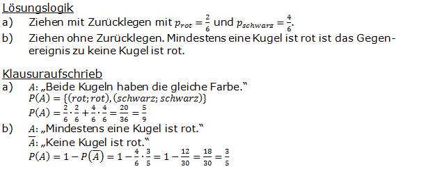 Urnenmodelle in der Stochastik Lösungen zum Aufgabensatz 5 Blatt 1/1 Grundlagen Bild 1 /© by www.fit-in-mathe-online.de)