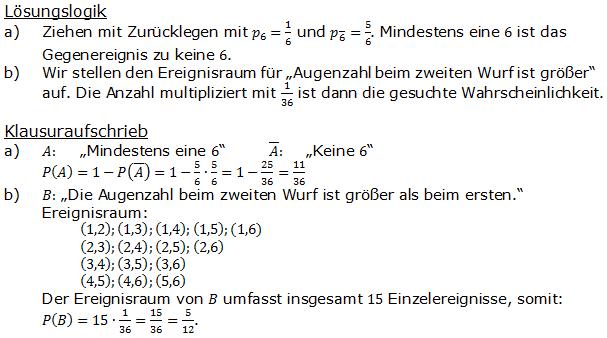 Urnenmodelle in der Stochastik Lösungen zum Aufgabensatz 6 Blatt 1/1 Grundlagen Bild 1 /© by www.fit-in-mathe-online.de)