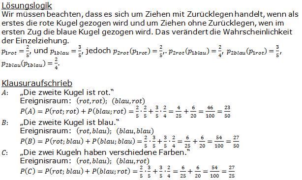 Urnenmodelle in der Stochastik Lösungen zum Aufgabensatz 7 Blatt 1/1 Grundlagen Bild 1 /© by www.fit-in-mathe-online.de)