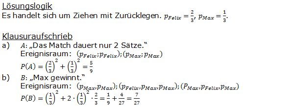 Urnenmodelle in der Stochastik Lösungen zum Aufgabensatz 9 Blatt 1/1 Grundlagen Bild 1 /© by www.fit-in-mathe-online.de)