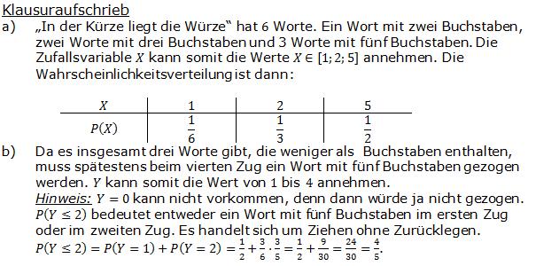 Urnenmodelle in der Stochastik Lösungen zum Aufgabensatz 10 Blatt 1/1 Grundlagen Bild 1 /© by www.fit-in-mathe-online.de)