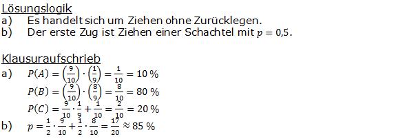 Stochastik Urnenmodelle Lösungen zum Aufgabensatz 13 Blatt 1/2 Grundlagen Bild A1213L01/© by www.fit-in-mathe-online.de