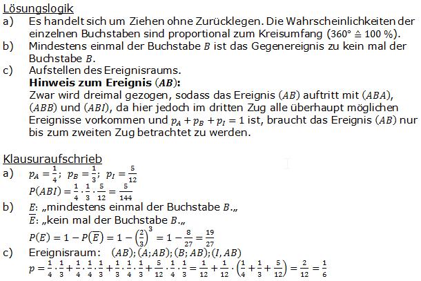 Stochastik Urnenmodelle Lösungen zum Aufgabensatz 15 Blatt 1/2 Grundlagen Bild A1215L01/© by www.fit-in-mathe-online.de