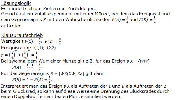 Stochastik Urnenmodelle Lösungen zum Aufgabensatz 17 Blatt 1/2 Grundlagen Bild A1217L01/© by www.fit-in-mathe-online.de