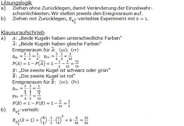 Stochastik Urnenmodelle Lösungen zum Aufgabensatz 19 Blatt 1/2 Grundlagen Bild A1219L01/© by www.fit-in-mathe-online.de