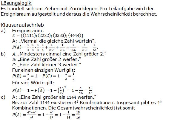Stochastik Urnenmodelle Lösungen zum Aufgabensatz 20 Blatt 1/3 Grundlagen Bild A1320L01/© by www.fit-in-mathe-online.de