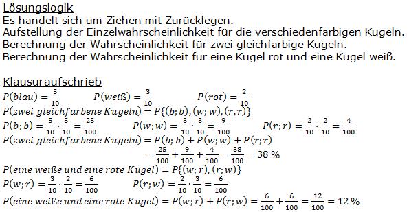 Stochastik Urnenmodelle Lösungen zum Aufgabensatz 21 Blatt 1/3 Grundlagen Bild A1321L01/© by www.fit-in-mathe-online.de