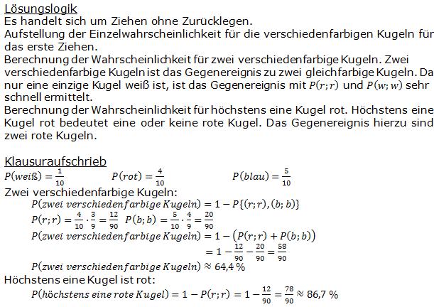 Stochastik Urnenmodelle Lösungen zum Aufgabensatz 22 Blatt 1/3 Grundlagen Bild A1322L01/© by www.fit-in-mathe-online.de