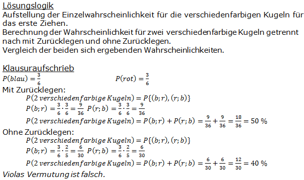 Stochastik Urnenmodelle Lösungen zum Aufgabensatz 23 Blatt 1/3 Grundlagen Bild A1323L01/© by www.fit-in-mathe-online.de