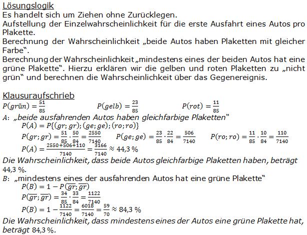 Stochastik Urnenmodelle Lösungen zum Aufgabensatz 25 Blatt 1/3 Grundlagen Bild A1325L01/© by www.fit-in-mathe-online.de