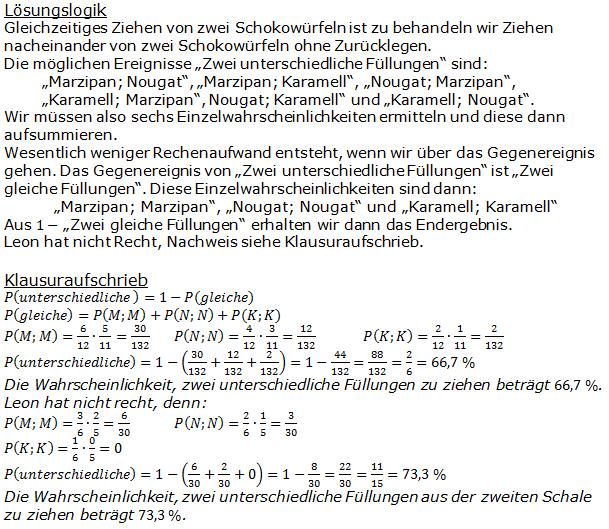 Stochastik Urnenmodelle Lösungen zum Aufgabensatz 26 Blatt 1/3 Grundlagen Bild A1326L01/© by www.fit-in-mathe-online.de