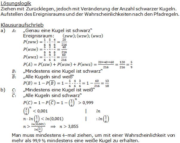 Urnenmodelle in der Stochastik Lösungen zum Aufgabensatz 1 Blatt 2/1 Fortgeschritten Bild 1 /© by www.fit-in-mathe-online.de)