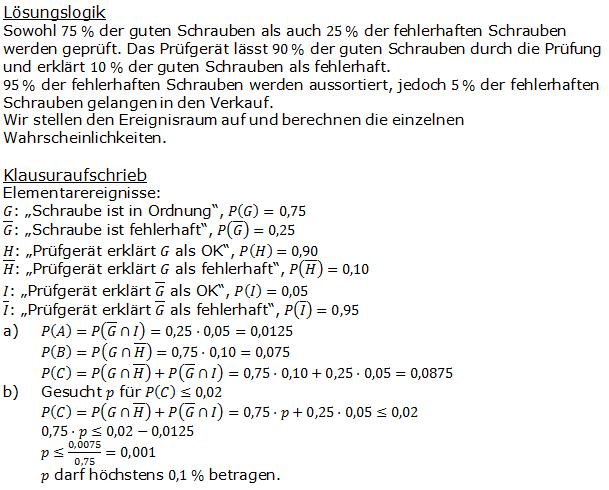 Urnenmodelle in der Stochastik Lösungen zum Aufgabensatz 4 Blatt 2/1 Fortgeschritten Bild 1 /© by www.fit-in-mathe-online.de)