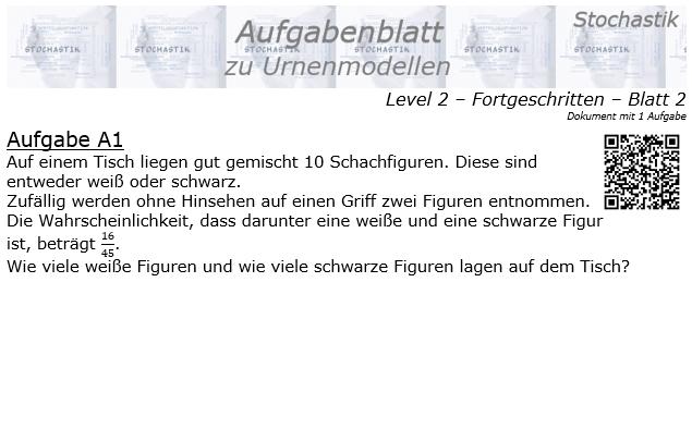 Stochastik Urnenmodelle Aufgabenblatt Fortgeschritten 2/2 / © by Fit-in-Mathe-Online.de