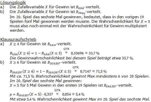 Stochastik Binomialverteilung Lösungen zum Aufgabensatz 15 Blatt 2/2 Fortgeschritten Bild A2215L01/© by www.fit-in-mathe-online.de