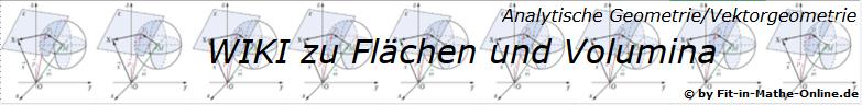 WIKI zum Thema Flächen und Volumina in der analytischen Geometrie/Vektorgeometrie/© by www.fit-in-mathe-online.de)
