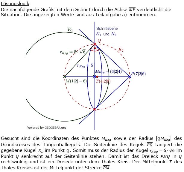 Kreis und Kugel Lösungen zum Aufgabensatz 1 Blatt 3/1 Expert Bild 1/© by www.fit-in-mathe-online.de