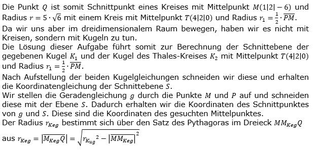 Kreis und Kugel Lösungen zum Aufgabensatz 1 Blatt 3/1 Expert Bild 2/© by www.fit-in-mathe-online.de