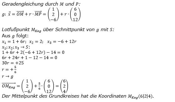 Kreis und Kugel Lösungen zum Aufgabensatz 1 Blatt 3/1 Expert Bild 4/© by www.fit-in-mathe-online.de