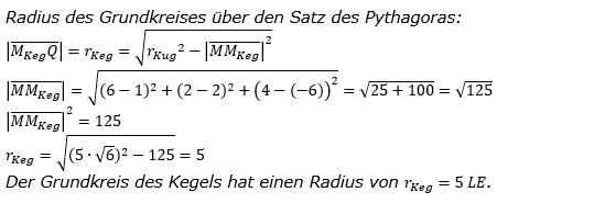 Kreis und Kugel Lösungen zum Aufgabensatz 1 Blatt 3/1 Expert Bild 5/© by www.fit-in-mathe-online.de
