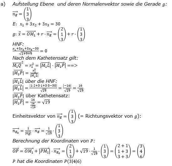 Kreis und Kugel Lösungen zum Aufgabensatz 2a Blatt 3/1 Expert Bild 1/© by www.fit-in-mathe-online.de