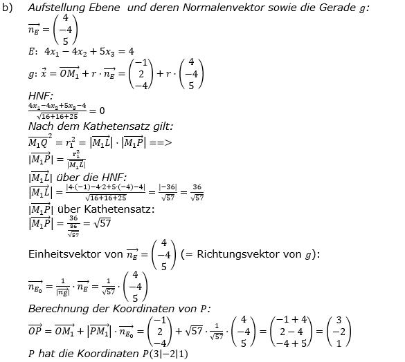 Kreis und Kugel Lösungen zum Aufgabensatz 2b Blatt 3/1 Expert Bild 1/© by www.fit-in-mathe-online.de