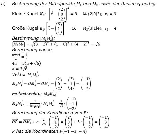 Kreis und Kugel Lösungen zum Aufgabensatz 3a Blatt 3/1 Expert Bild 1/© by www.fit-in-mathe-online.de