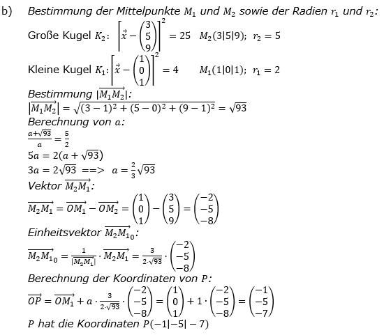 Kreis und Kugel Lösungen zum Aufgabensatz 3b Blatt 3/1 Expert Bild 1/© by www.fit-in-mathe-online.de